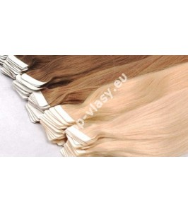 Tape  In vlasy 40 cm / Double Drawn! Salon Remy AAA+ / 100 gram