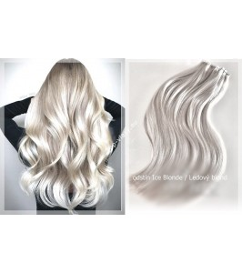 Tape  In vlasy 60 cm /Double Drawn! Salon Remy AAA / 100 gram