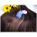 Clip in vlasy - Multihnědé 2/4/6 Deluxe XXl sady