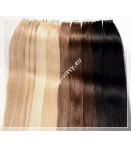 Tape  In vlasy 70 cm /Double Drawn! Salon Remy AAA / 100 gram