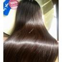 Středně hnědé clip in DeLuxe XXL vlasy