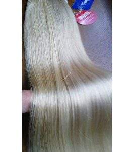 Clip in vlasy - Platinový blond 60 - DeLuxe XXL sady