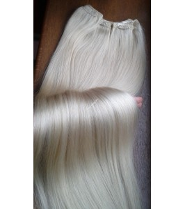Clip in Platinové blond Maxi Dvojité 2in1 vlasy