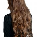 Čokoládově světle hnědé clip in DeLuxe vlnité vlasy