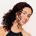 Přírodní černé clip in kudrnaté vlasy