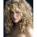 Světle blond šampaň clip in kudrnaté vlasy