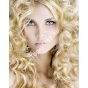 Světle blond 613 clip in kudrnaté vlasy